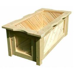 Drewniana prostokątna donica do ogrodu 15 kolorów - Loria