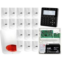 Zestawy alarmowe, Zestaw alarmowy Płyta główna INTEGRA 32 Manipulator sensoryczny INT-KSG-BSB 16x Czujka LC-100 Sygnalizator zewnetrzny SPL-5010 R