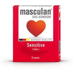 Prezerwatywy lateksowe delikatne - Masculan Type 1 Sensitive 48szt