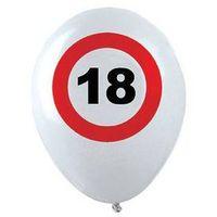 Balony, Balony Znak zakazu 18tka - 30 cm - 12 szt.