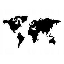 Metalowa mapa świata ścienna do pokoju d9 150cm