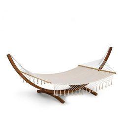 Blumfeldt Bali TAS Swing, Hamak modrzew, 160 kg maks., kremowy frędzle