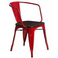 Krzesła, Krzesło Paris Arms Wood czerw. sosna szc zotkowana MODERN HOUSE bogata chata