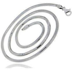 Gruby srebrny łańcuszek żmijka linka snake 45 cm srebro 925 ML262