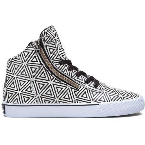 Damskie obuwie sportowe, buty SUPRA - Women Cuttler White/Pattern (WPT)