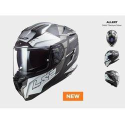 KASK Motocyklowy LS2 FF327 CHALLENGER ALLERT TITAN SILVER - Nowość 2021 roku