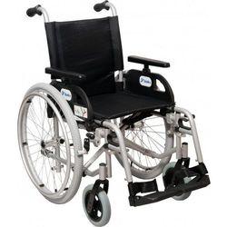 Wózek inwalidzki ręczny, składany, stalowy z szybkozłączami Marlin 51 cm