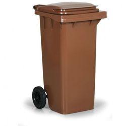 Plastikowy pojemnik na odpady CLD 120 litrów, brązowy