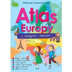 Atlas Europy z naklejkami i plakatem (opr. miękka)