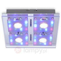 Lampy sufitowe, Leuchten Direkt STEFAN Lampa Sufitowa LED Chrom, 4-punktowe - Nowoczesny - Obszar wewnętrzny - STEFAN - Czas dostawy: od 2-4 dni roboczych