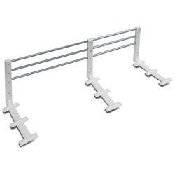Barierka ochronna do łóżka 80-140cm, biała REER - biało-szary
