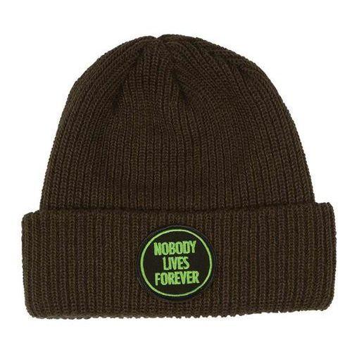 Nakrycia głowy i czapki, czapka zimowa CREATURE - Nobody Long Shoreman Dark Brown (78395)