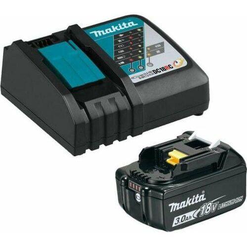Pozostałe akcesoria do narzędzi, Makita 191A24-4 zestaw akumulatora BL1830B z ładowarką DC18RC