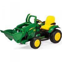 Traktory dla dzieci, Peg Perego Traktor z łyżką na akumulator John Deere Power Pull koparka