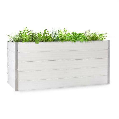 Doniczki i podstawki, Blumfeldt Nova Grow, podniesiona grządka, 195 x 91 x 100 cm, WPC, imitacja drewna, biała