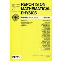 Gazety i czasopisma, Reports on Mathematical Physics 78/2 2016 Kraj (opr. miękka)