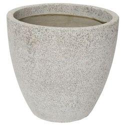 Donica Verve efekt cementu okrągła 50 cm szara