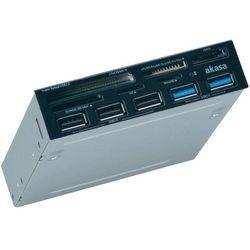 Czytnik kart pamięci USB 3.0 do obudowy komputera, Akasa AK-ICR-17, 3,5
