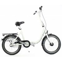 Pozostałe rowery, Aluminiowy rower składany SKŁADAK niska rama MIFA 3 biegi Nexus SHIMANO prądnica biały