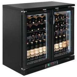 Chłodziarka na wino z drzwiami na zawiasach lub suwanymi | 254L | 920x920x(H)535mm