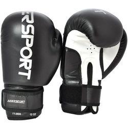 Rękawice bokserskie AXER SPORT A1317 Czarno-Biały (8 oz) + Zamów z DOSTAWĄ JUTRO!