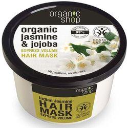 Maska do włosów indyjski jaśmin & jojoba zwiększająca objętość 250 ml organic shop