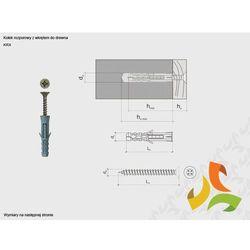 KRX 8/5,0x50 kołek rozporowy z wkrętem do drewna (100szt)