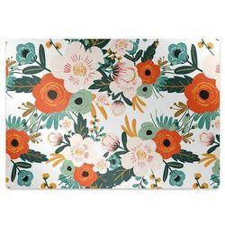 Podkładka pod krzesło obrotowe Podkładka pod krzesło obrotowe Kolorowe kwiaty
