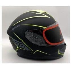 Lazer kask motocyklowy vertigo evo race czarny żół