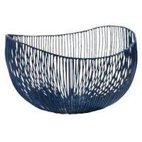 Kosze i pojemniki gastronomiczne, Kosz metalowy TALE niebieski 31x29x21 cm