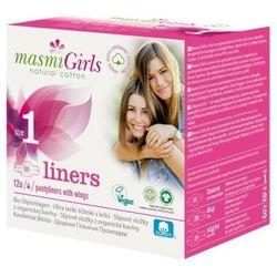 Girls wkładki higieniczne z bawełny organicznej Size 1 12szt