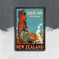 Plakaty, Plakat vintage Plakat vintage Nowa Zelandia