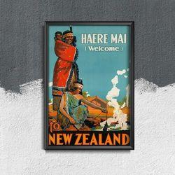 Plakat vintage Plakat vintage Nowa Zelandia