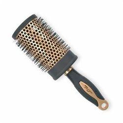 Top Choice Akcesoria do włosów Szczotka do włosów Exclusive rozm XL okrągła złoto/czerń 62049-02 - TOP CHOICE