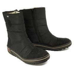 RIEKER Z6485-00 black, śniegowce damskie