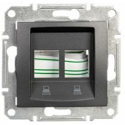 Płytka centralna Schneider Sedna SDN4400670 2xRJ45 do Amp Molex Keline grafit