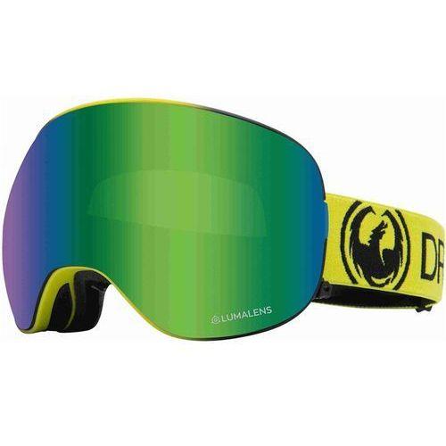 Kaski i gogle, gogle snowboardowe DRAGON - Dr X2 Bonus Lime Llgrnion+Llamber (320) rozmiar: OS