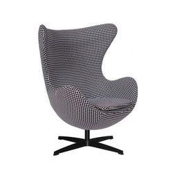 Fotel JAJO pepitka insp. Egg Chair - podstawa czarna