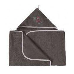 Szare okrycie kąpielowe ręcznik z kapturkiem 70x140 MAXI JUNIOR