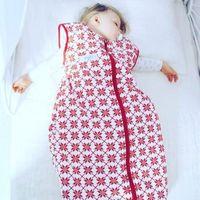 Śpiworki dziecięce, Śpiworek do spania czerwone gwiazdy