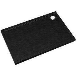 Brodzik akrylowy Sched-Pol Atla prostokątny 90 x 100 x 4,5 cm czarny