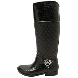 MICHAEL Michael Kors CROCO TALL RAINBOOT Kalosze black