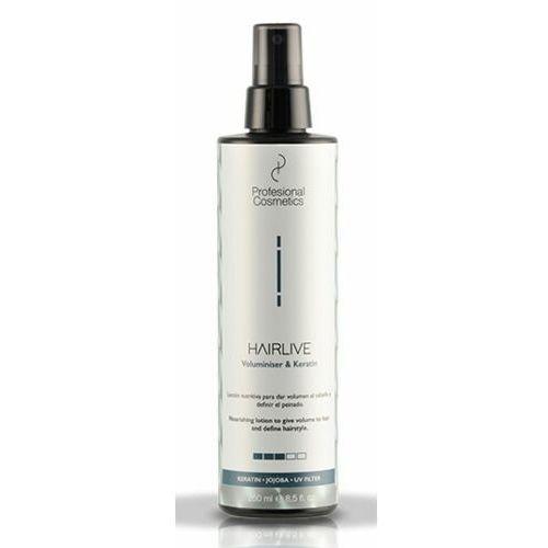 Stylizowanie włosów, Profesional Cosmetics HAIRLIVE VOLUMINISER & KERATIN Keratynowy wzmacniacz objętości włosów