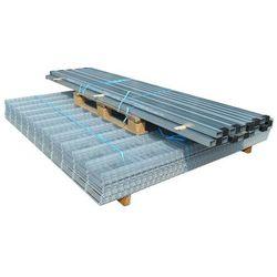 vidaXL Panele ogrodzeniowe 2D z słupkami - 2008x2030 mm 24 m Srebrne Darmowa wysyłka i zwroty