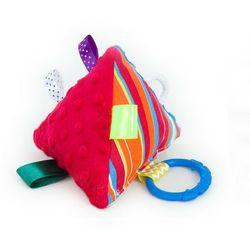 MAMO-TATO Piramidka sensoryczna dla niemowląt Czerwona