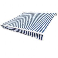 Markiza przeciwsłoneczna biało-niebieskie płótno 4 x 3 m