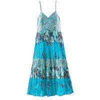 Sukienki dziecięce, Sukienka bonprix turkusowy z nadrukiem