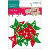 Pozostałe artykuły papiernicze, Filc dekoracyjny gwiazda 383936 - EURO-TRADE