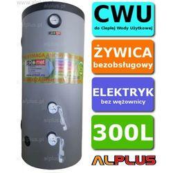 Elektryczny bojler 300L ERMET 6kW (2 grzałki po 3kW) lub inne do wyboru, Ogrzewacz wody pionowy stojący, 300 litrów, 172cm x 63cm, Wysyłka gratis