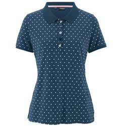 """Shirt polo """"pique"""", w kropki bonprix ciemnoniebiesko-biały w kropki"""